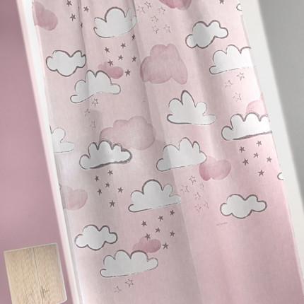 Κουρτίνα Με Τρουκς 145x270 Guy Laroche Cloudy Pinky
