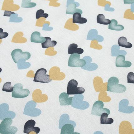 Σεντόνι Μεμονωμένο Λίκνου 80X110 Dimcol Hearts 11 Χωρίς Λάστιχο