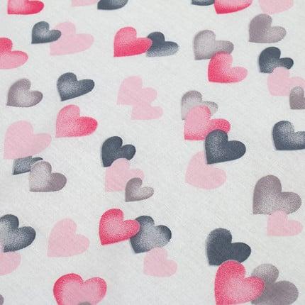 Σεντόνι Μεμονωμένο Λίκνου 80X110 Dimcol Hearts 12 Χωρίς Λάστιχο
