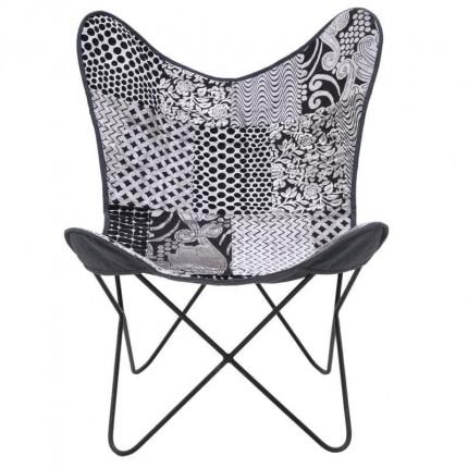 Μεταλλική/Υφασμάτινη Καρέκλα Inart 7-50-122-0027