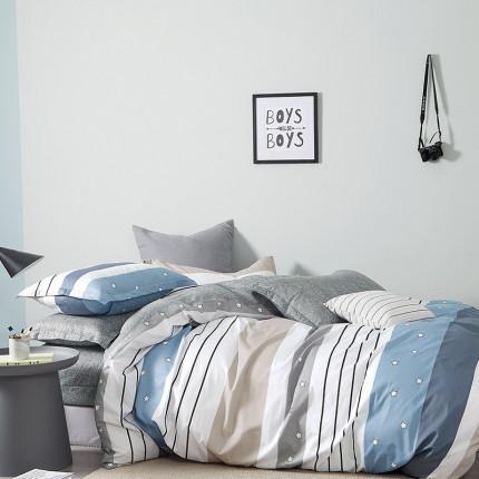 Μαξιλαροθήκες Ζεύγος Oxford 50X70 Melinen Stripe Star Boy Blue