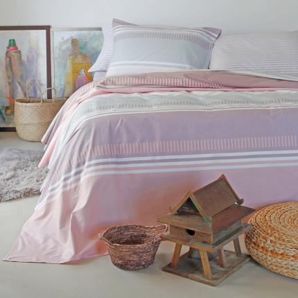 Σεντόνια Διπλά (Σετ) 205X270 Melinen Blogger Pink