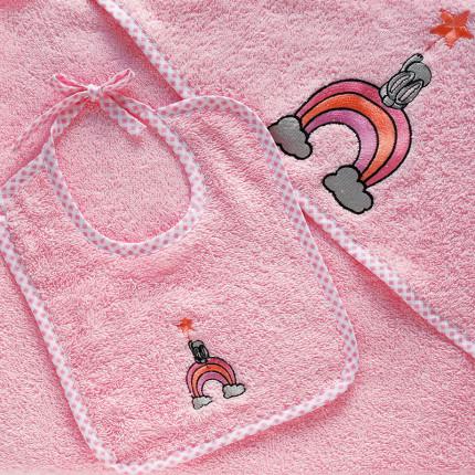 Σαλιάρα 20X25 Melinen Wish Pink