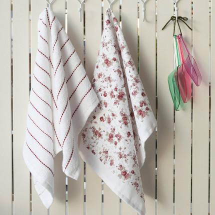 Σετ Πετσέτες Κουζίνας (2 Τμχ) 40X60 Melinen Liberty Floral Εμπριμε