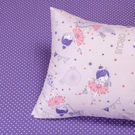 Μαξιλαροθήκες Ζεύγος 50X70 Melinen Circus Girl Lilac