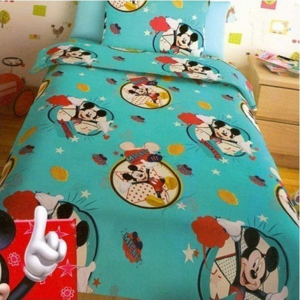 Σεντόνια Μονά (Σετ) Disney Mickey Turquoise