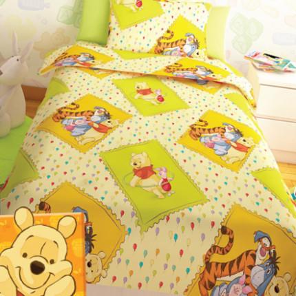 Σεντόνια Μονά (Σετ) Disney Winnie Yellow