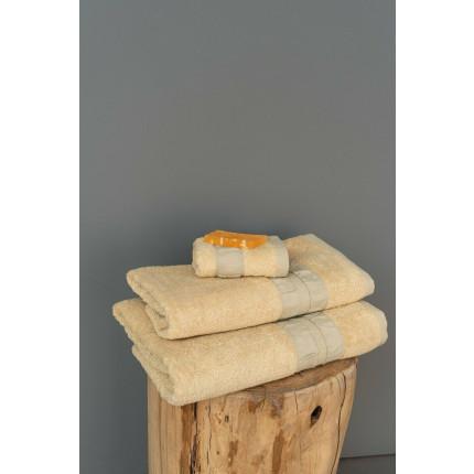 Πετσέτες Μπάνιου (Σετ 3 Τμχ) Palamaiki Bath Collection Cactus Cream