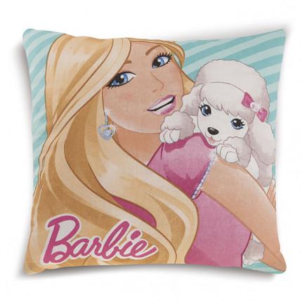Διακοσμητικό Μαξιλάρι Δύο Όψεων 40X40 Dimcol Disney Barbie 08 Ροζ