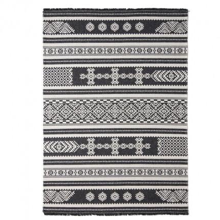 Χαλί Σαλονιού Royal Carpet Casa Cotton 1.27X1.90 - 22095 Black (All Season)