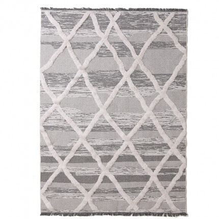 Χαλί Σαλονιού Royal Carpet Casa Cotton 1.29X1.90 - 22317 Grey/Black (All Season)