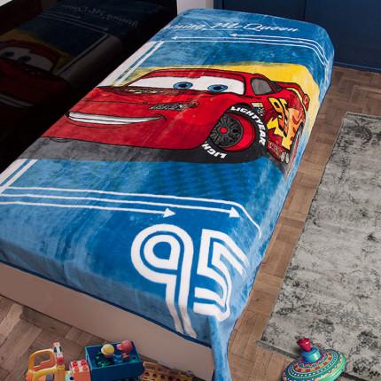 Κουβέρτα Βελουτέ Μονή 160X220 Dimcol Disney Cars 095 Μπλε