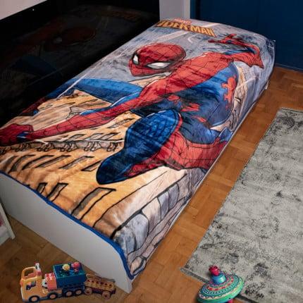 Κουβέρτα Βελουτέ Μονή 160X220 Dimcol Disney Spiderman 511 Digital Print