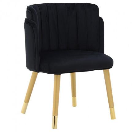 Βελούδινη Καρέκλα Inart 3-50-588-0039