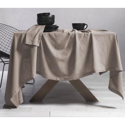 Τραπεζομάντηλο 150x250 Nef Nef Cotton-Linen Beige