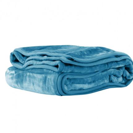 Κουβέρτα Βελουτέ Μονή 160X220 Nef Nef Loft 1167-Denim