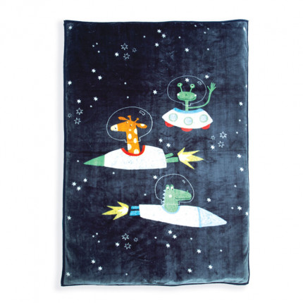 Κουβέρτα Βελουτέ Μονή 160X220 Nef Nef Space Zoo D.Blue