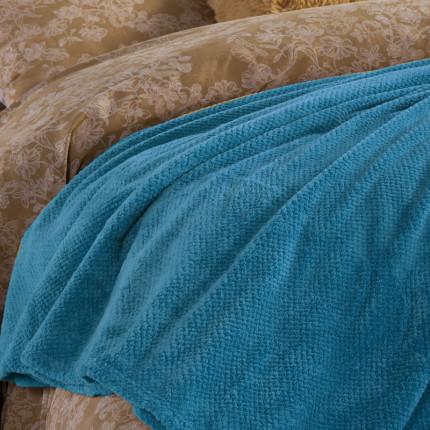 Κουβέρτα Fleece Μονή 160X220 Nef Nef Record Petrol