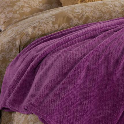 Κουβέρτα Fleece Υπέρδιπλη 240X220 Nef Nef Record Mauve