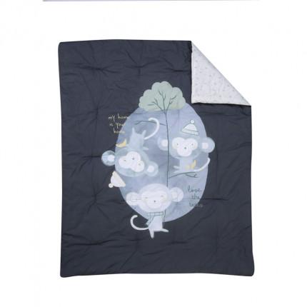 Πάπλωμα Κούνιας 110X140 Nef Nef Amazon Grey