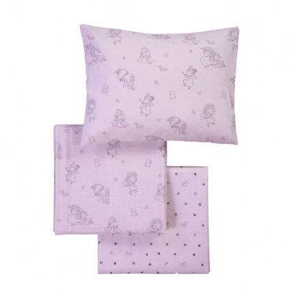 Σεντόνια Κούνιας (Σετ) 120X170 Nef Nef Friendship Pink Χωρίς Λάστιχο