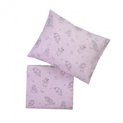 Παπλωματοθήκη Κούνιας (Σετ) 110X150 Nef Nef Friendship Pink