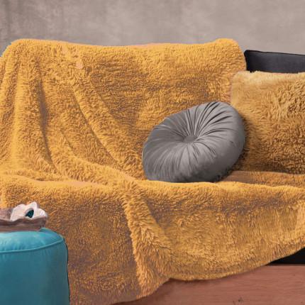 Κουβέρτα Καναπέ Πολυθρόνας 130X170 Nef Nef Iverson Mustard