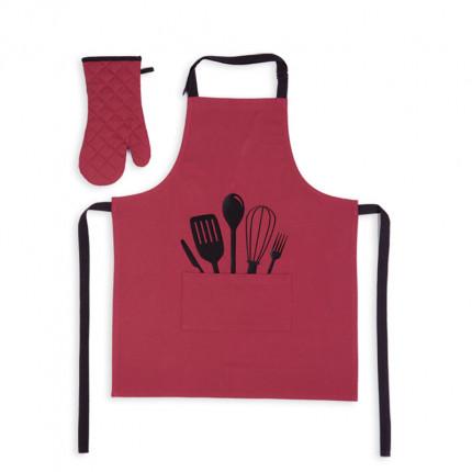Σετ Κουζίνας (2 Τμχ) Nef Nef Cooking Bordo
