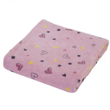 Κουβέρτα Fleece Λίκνου 75X110 Nef Nef Friendship Pink