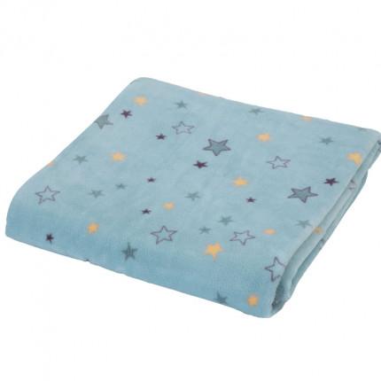 Κουβέρτα Fleece Λίκνου 75X110 Nef Nef Lanselot Aqua
