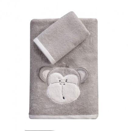 Παιδικές Πετσέτες (Σετ 2 Τμχ) Nef Nef Amazon Beige