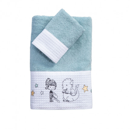 Παιδικές Πετσέτες (Σετ 2 Τμχ) Nef Nef Lanselot Aqua