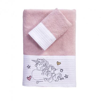 Παιδικές Πετσέτες (Σετ 2 Τμχ) Nef Nef Friendship Pink