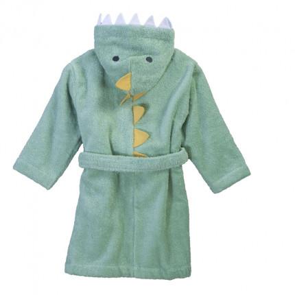Μπουρνούζι Με Κουκούλα Nef Nef Baby Dino Green