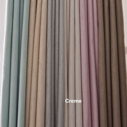 Κουρτίνα Με Τρουκς 140X260 Palamaiki Curtain Collection Kara Creme