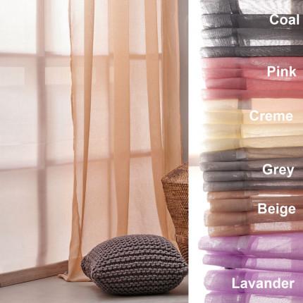 Κουρτίνα Με Τρουκς 140X260 Palamaiki Curtain Collection Era Pink