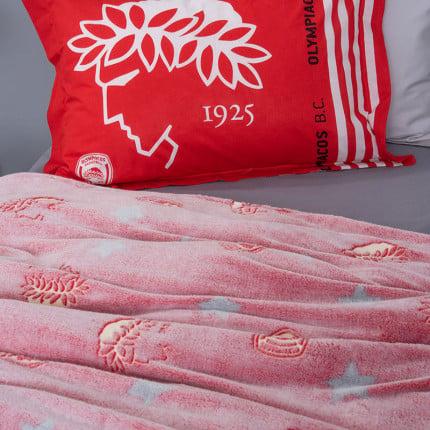 Κουβέρτα Fleece Μονή Palamaiki Luminous Teams 160X220 Olympiacos