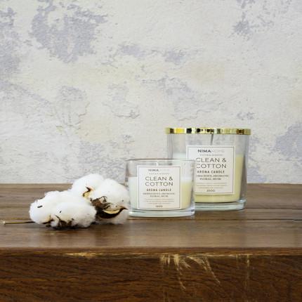 Αρωματικό Κερί 350gr - Nima Clean & Cotton