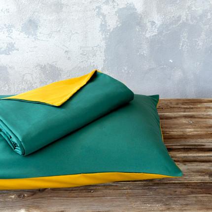 Παπλωματοθήκη Μονή (Σετ) 160X240 Nima Abalone Green / Mustard Beige