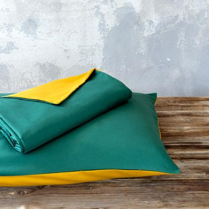 Παπλωματοθήκη Υπέρδιπλη (Σετ) 220X240 Nima Abalone Green / Mustard Beige