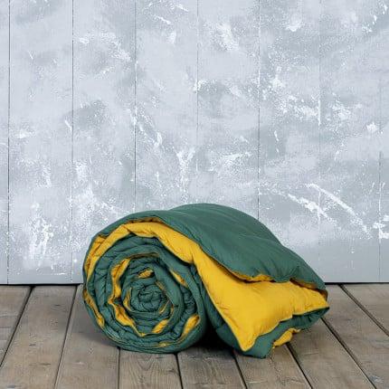 Πάπλωμα Υπέρδιπλο 220X240 Nima Abalone Green / Mustard Beige