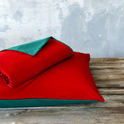 Παπλωματοθήκη Μονή (Σετ) 160X240 Nima Abalone Red / Green