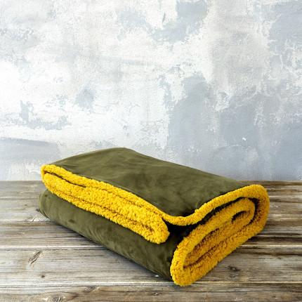 Κουβέρτα Καναπέ 130X170 Nima Nuan Brown / Mustard Beige