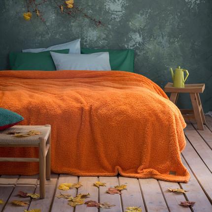 Κουβέρτα Fleece Μονή 150X220 Nima Manta Amberglow