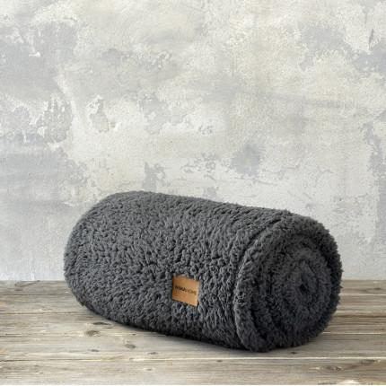 Κουβέρτα Fleece Μονή 150X220 Nima Manta Charcoal