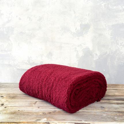 Κουβέρτα Fleece Υπέρδιπλη 220X240 Nima Manta Wine Red