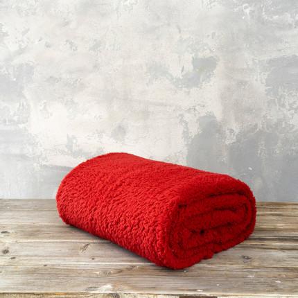 Κουβέρτα Fleece Υπέρδιπλη 220X240 Nima Manta Red