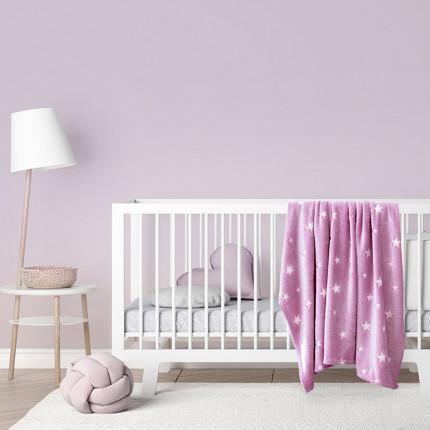 Κουβέρτα Fleece Λίκνου 80X110 Kocoon Glow Star Pink