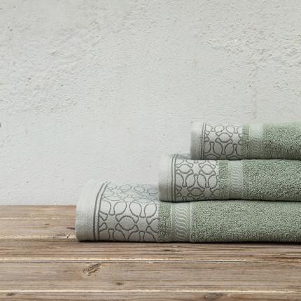 Πετσέτες Μπάνιου (Σετ 3 Τμχ) Kocoon Callianda Mint