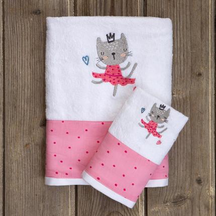 Παιδικές Πετσέτες (Σετ 2 Τμχ) Kocoon Dancing Cats